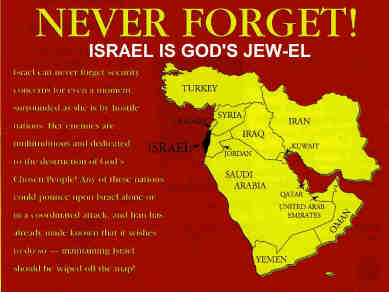 Friendship For Israel Center - Map of israel today